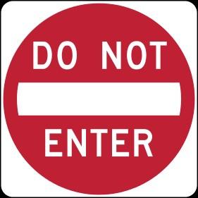 1-do not enter