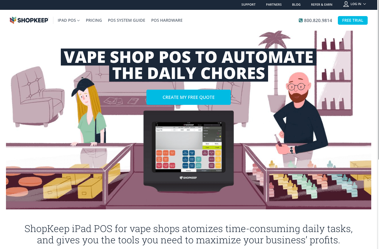 ShopKeep POS For Vape Shops