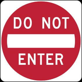 1-do not enter