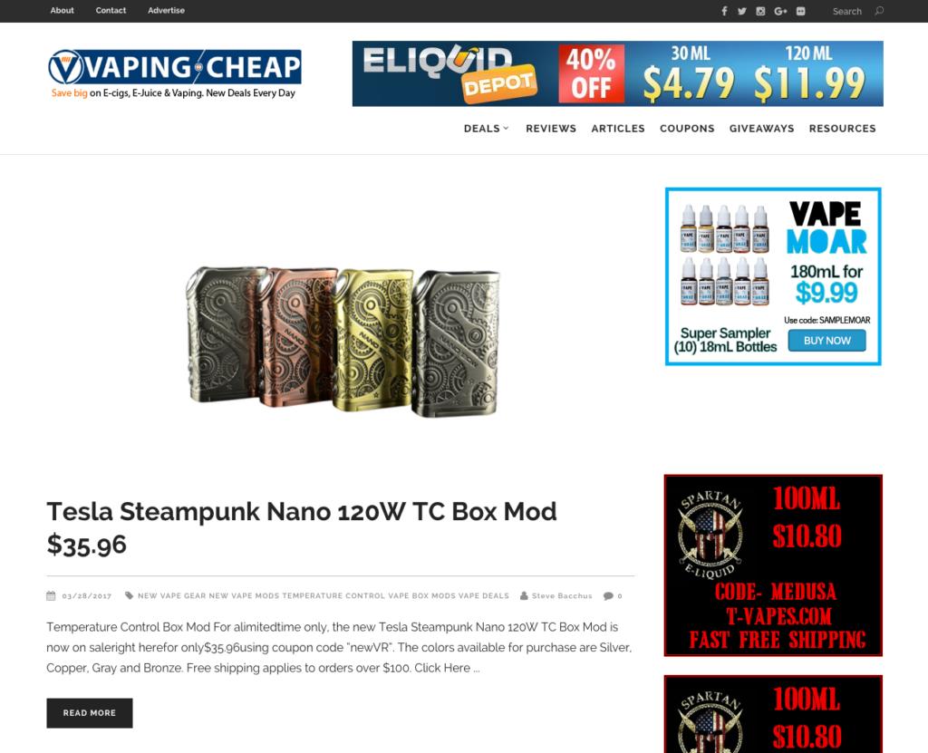 Vaping Cheap - Best Vape Reviews